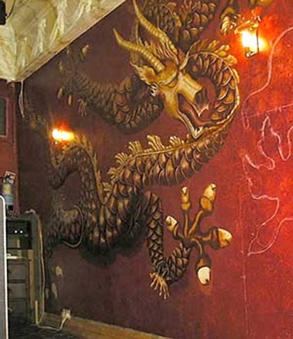 Mural painters artists oriental dragons brighton for Chinese wall mural